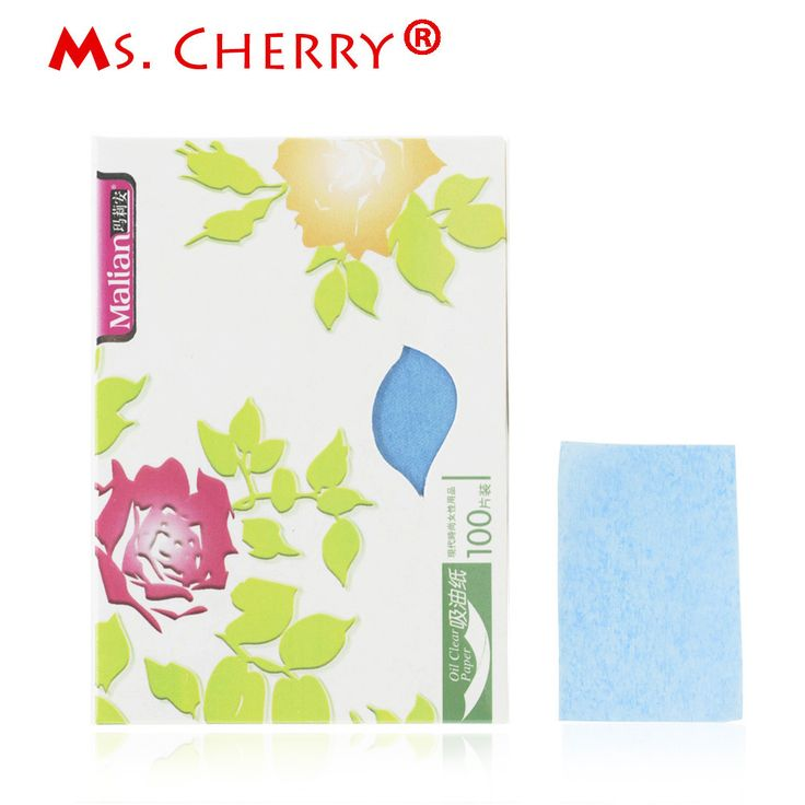 100 Piece paper / bag Women Facial Oil Control Absorption Film Tissue Makeup Oil Blotting Papers Oil Removal Paper MT098