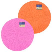 "Bulk Home Collection Round Summer Fun Red and Orange Placemats, 15"" at…"