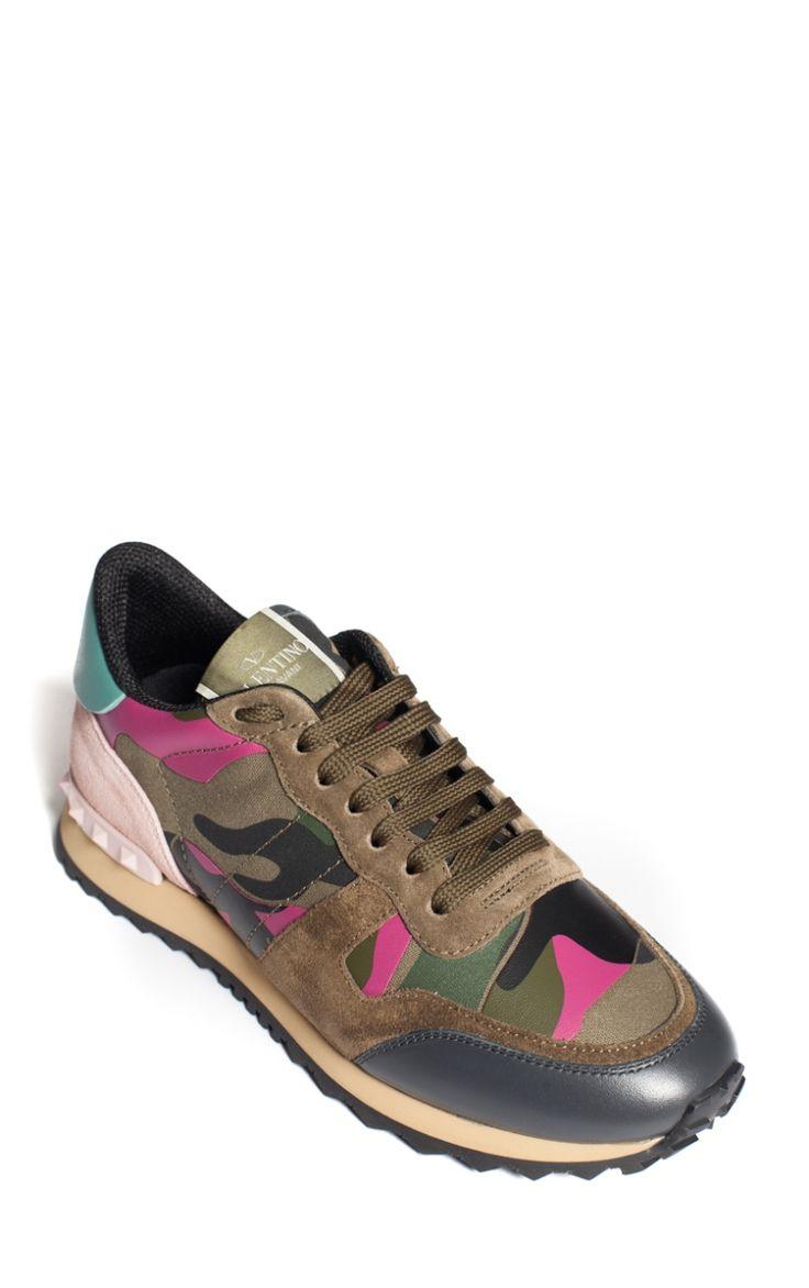 Baskets Camouflage Rose & Kaki Valentino