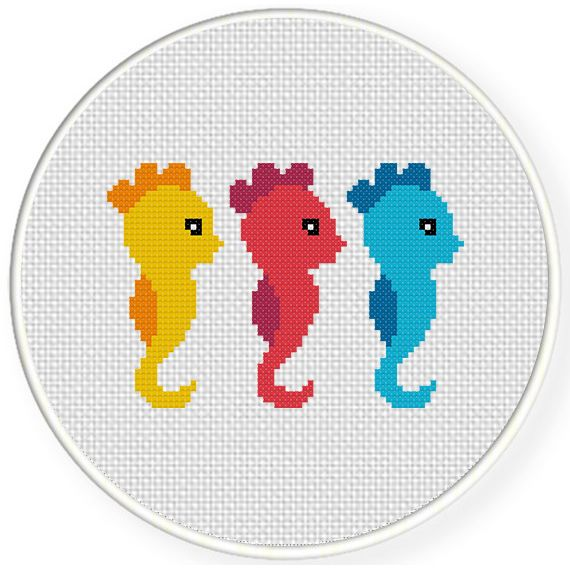 FREE for April 16th 2015 Only - Cute Seahorses Cross Stitch Pattern