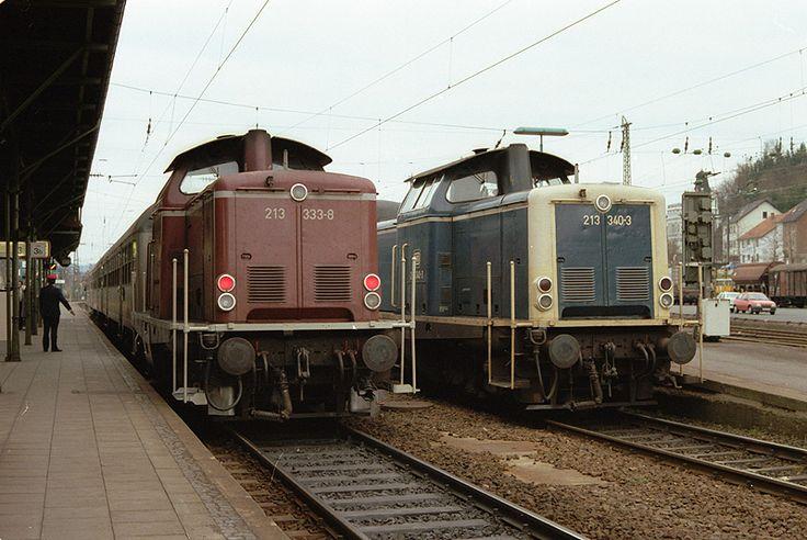 Deutsche Bundesbahn - Dieseltraktion: 213 333 und 213 340