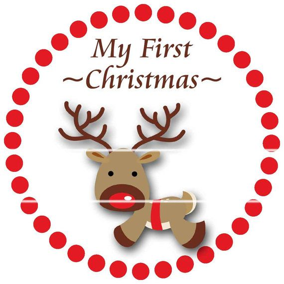 My First Christmas Sticker Baby Monthly Stickers By