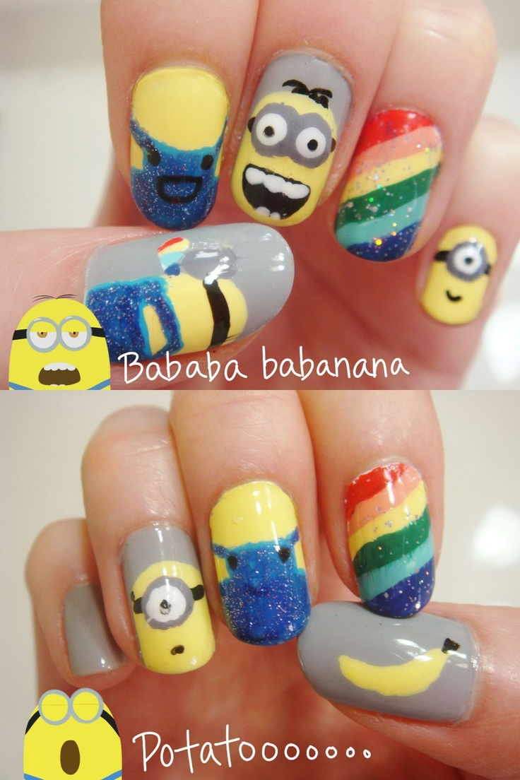 26 best despicable me nails images on Pinterest | Nail scissors ...