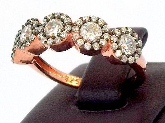 1.8 Ct 5 Stone Round Cut Diamond Anniversary by lunasilvershop, $69.90