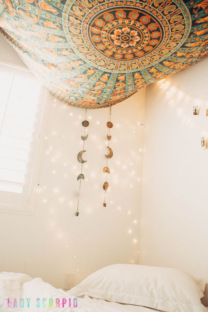 Bedroom Goals ✨ ☽ ✩ Product by Lady Scorpio | Bohemian Bedroom Moon Phase Wall Hanging Decor Tapestry Design Polaroids Boho Bungalow UOhome urban outfitters apartment dorm || Save 25% off all orders with code PINTERESTXO at checkout | Shop Now LadyScorpio101.com