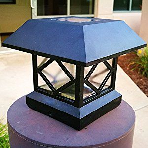 Amazon.com : Sogrand 2pcs-Pack, Solar Post Lights, Fits 5 Post Sizes with Adaptors Black Vinyl Bright Sturdy and Big, Solar Lights Outdoor, Post Light, Solar Lamp Post : Patio, Lawn & Garden