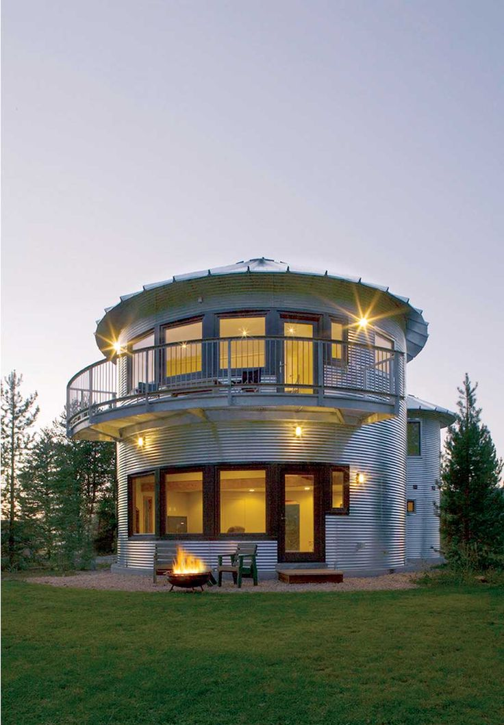 A bit big, but I love silo and grain bin homes. Grain bin houses and storage buildings are constructed from round metal grain bins. After the bins are in place, they require virtually no maintenance. Great how-to article.