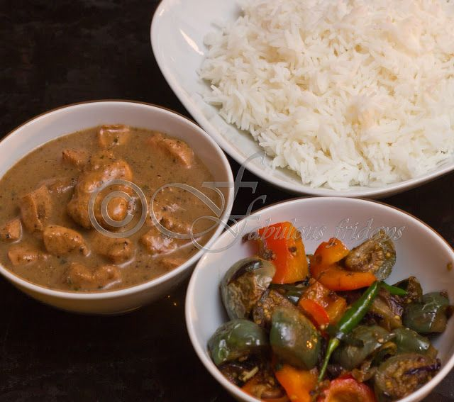 fabulous friday: Massaman Chicken curry with Thai green eggplant