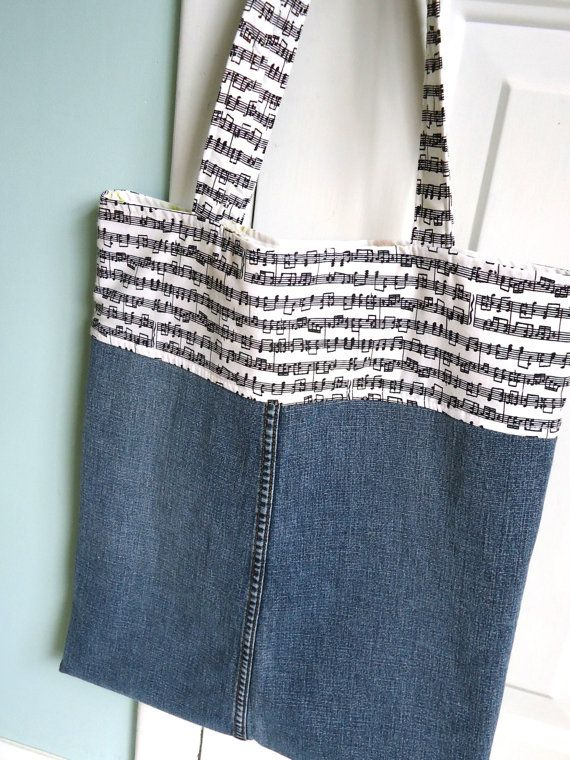 Music Lesson Bag Denim Bag by SweetPeaPurseCompany on Etsy