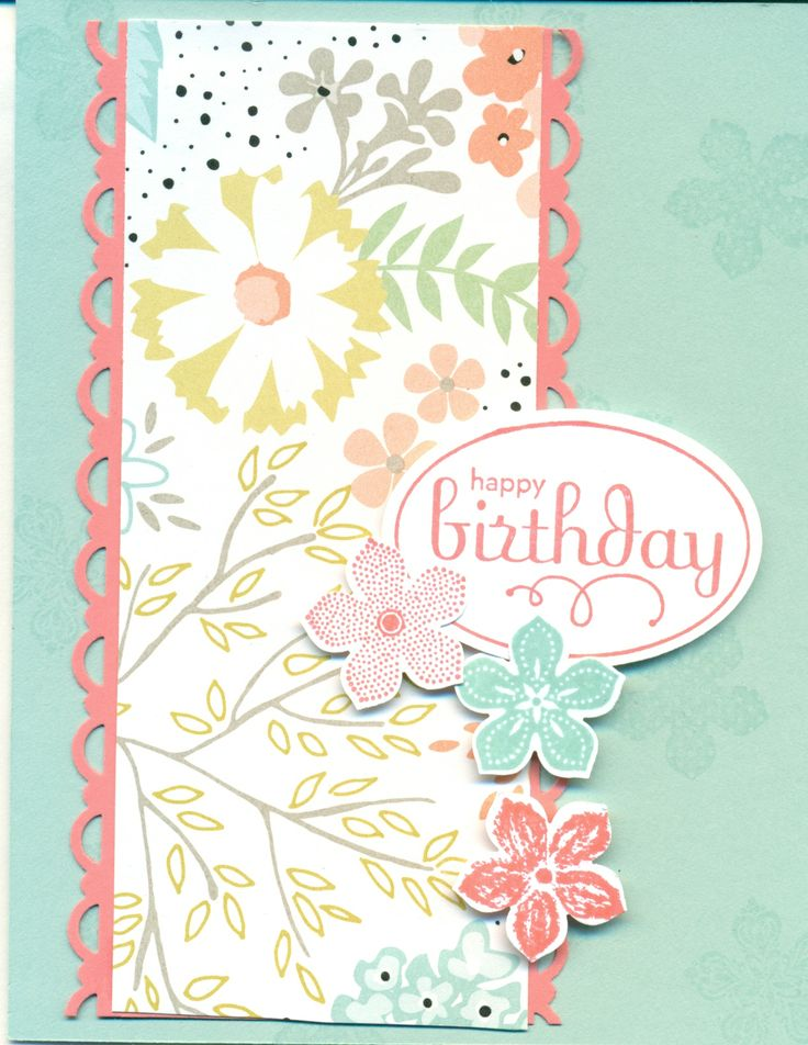 Sweet Sorbet DSP, Scallop Trim Punch, Petite Petal set and punch, retired Perfect Punch stamp set.