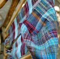 Weaving: Blue scarf of epic scrapiness