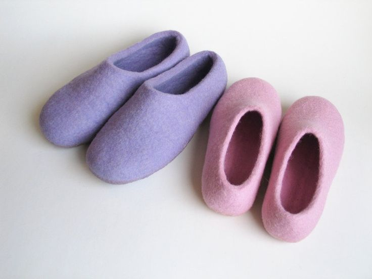 Felt shoe for mom and baby Women felted slippers House shoes for mother and kid Wool shoes for women Kid shoes Two pair of slipper by FeltingLT on Etsy