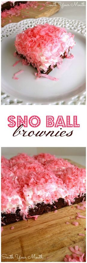 Sno Ball Brownies | South Your Mouth | Bloglovin'