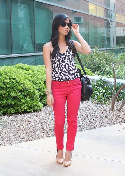 hot pink pants. « jenny in jacquard