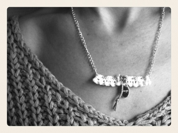 Laugh Necklace by SKRIN on Etsy, €15.00