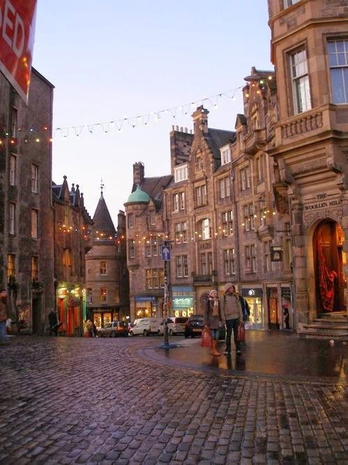 Cobblestone Street, Edinburgh, Scotland #contiki2015 #greatbritainandscotland