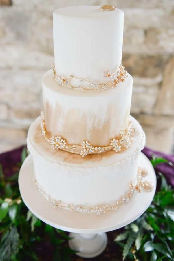 Cake jewels Wedding Cake  by Sharon Sadie May Cakes  - http://cakesdecor.com/cakes/273015-cake-jewels-wedding-cake