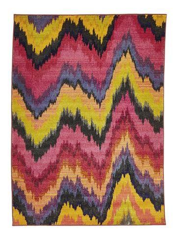 Designer Waves Rug Pink