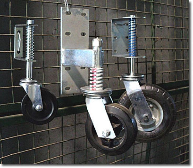 Support Wheel For Gate Temp Gate Wheel Diy Driveway