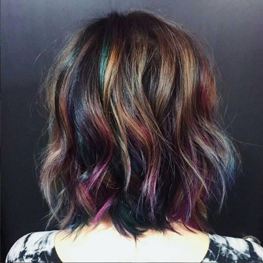 hair color trends 2016   Oil slick hair: The best way for brunettes who hate bleaching to get ...