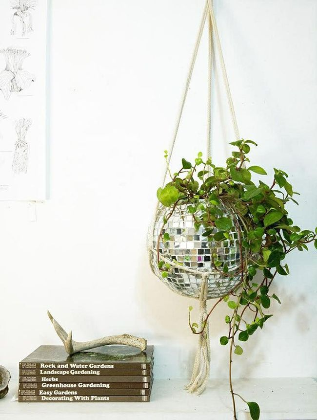 Disco Ball Planter from Chaparral Studio...DIY!!!!!