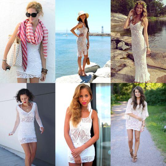 Vackra virkade klänningar från Emma Östergren