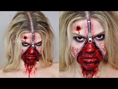 Get All Gruesome and Spooky With This Unzipped Zipper Face Halloween Makeup! – Cute DIY Projects