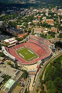UGA's Sanford Stadium - Countless memories and can hardly wait for another one tonight! #AldeanUGA :)