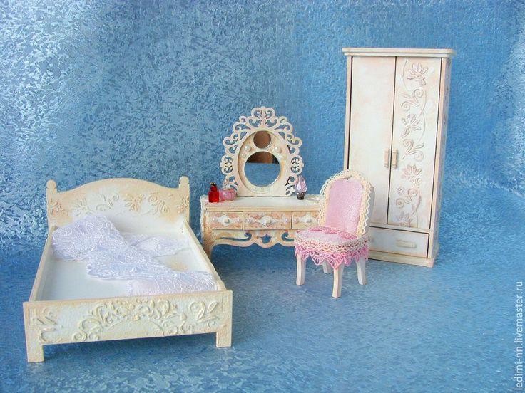 Купить Кукольная мебель Спальня, мебель для кукол - кукольный домик, подарок для девочки