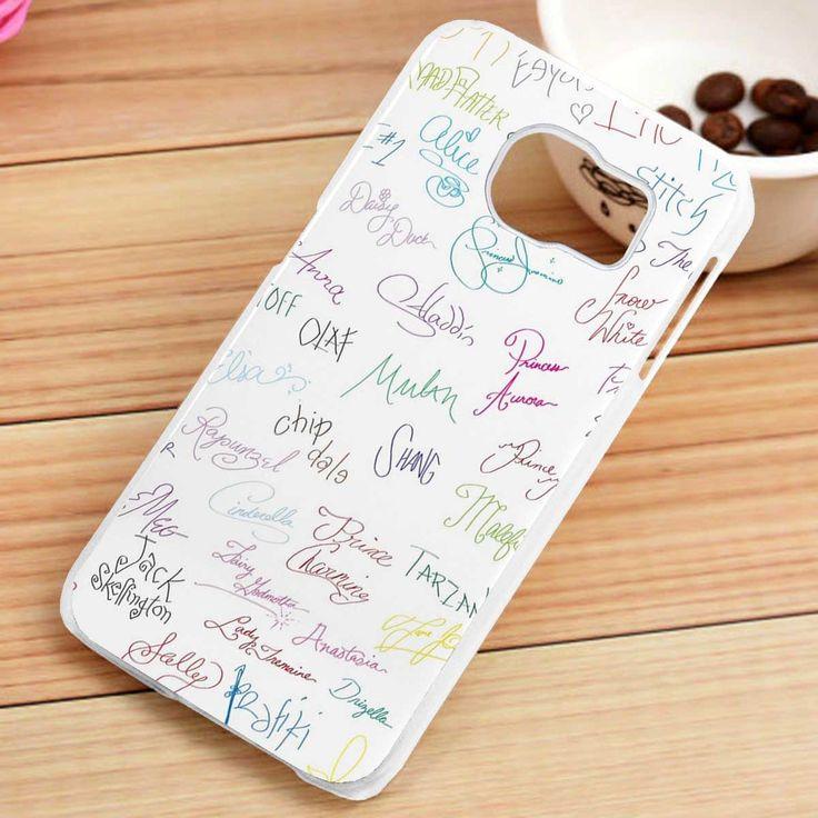 Disney Characters Autographs Samsung Galaxy S3, S4, S5, S6, S6 Edge, S7 Case - gogolfnw