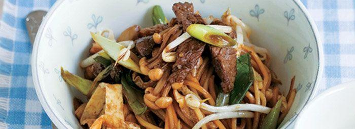 Stir-fried Beef with Hokkien Noodles