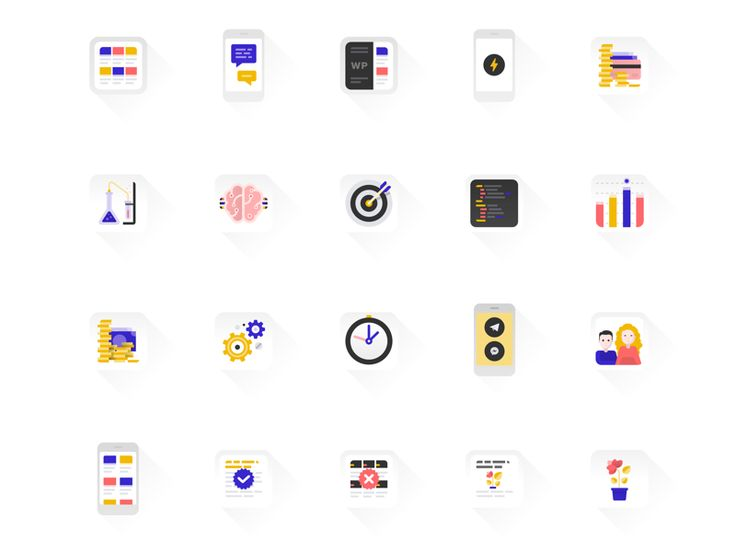 myWidget Landing Page Icons / Anna for My.com