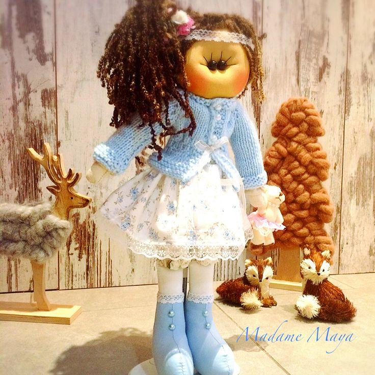Matmazel Amabella Sevgi ile üretilen, tamamı el yapımı dekoratif bez Bebek