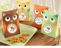 Owl Favor Boxes  - personalized - set of 12 Baby Shower favor boxes, owl baby shower, owl shower favors,