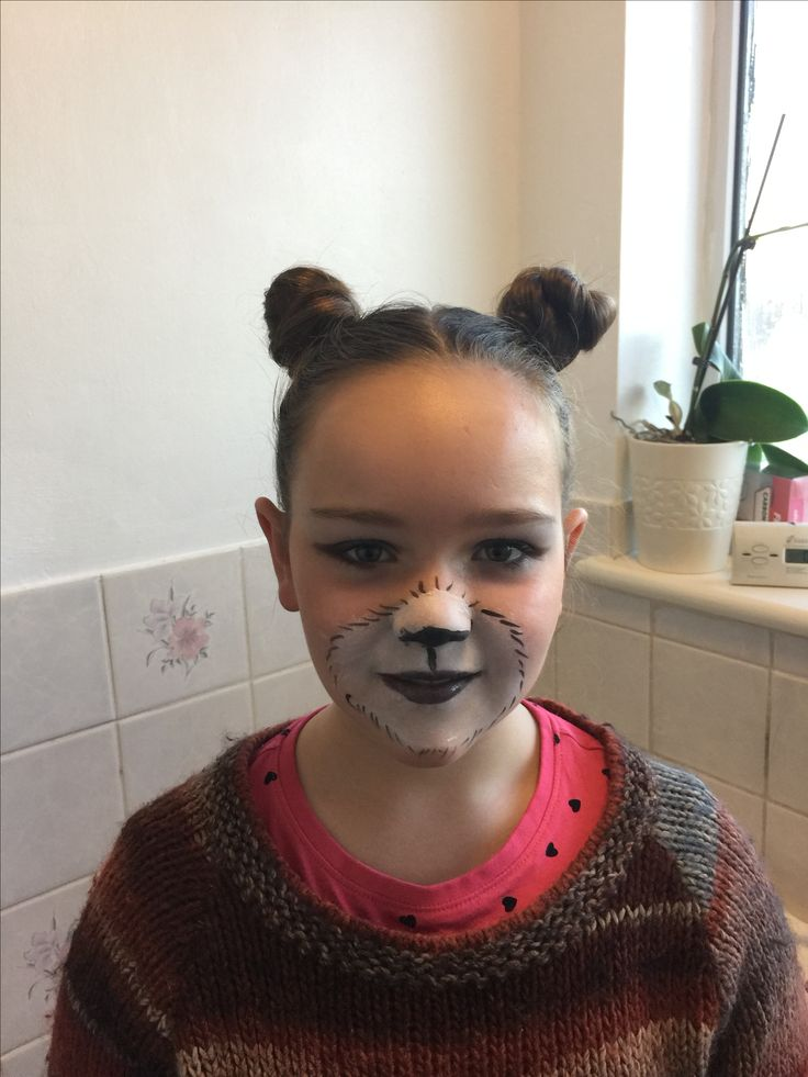 Bear face paint. Using MyShowcase products and face paint