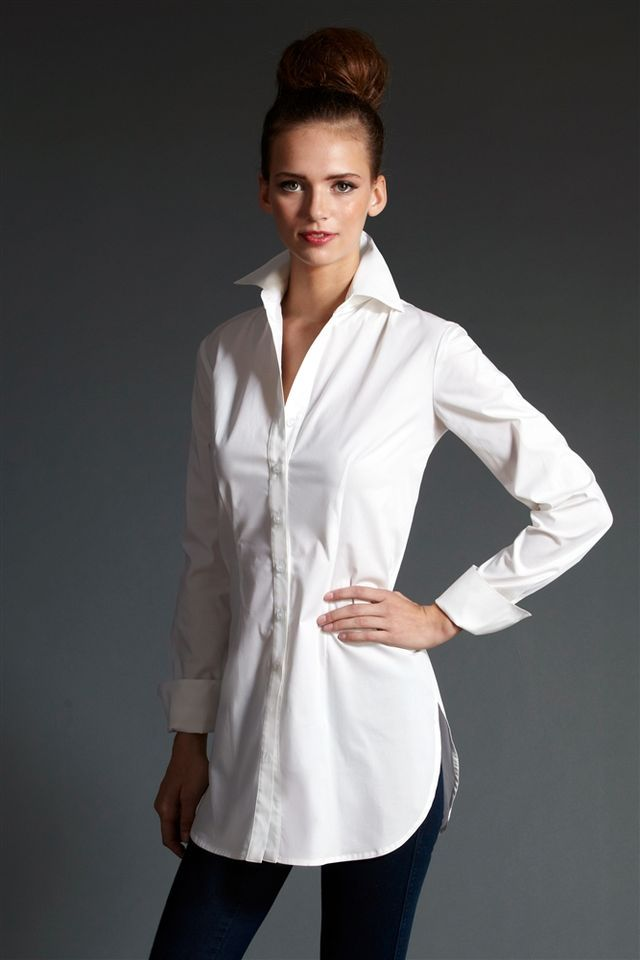 Fashion Over Fifty Ultimate Fashion Essential The White Tunic Shirt | rough luxe | Bloglovin'