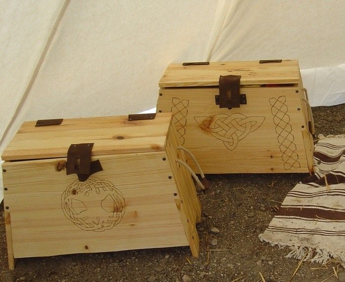 Viking boxes w/Plans I wonder if I can alter it just enough to make them look more elvish than viking...hmmm