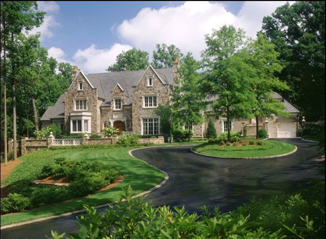Home Driveway Design Ideas: Trees, Home And Circles