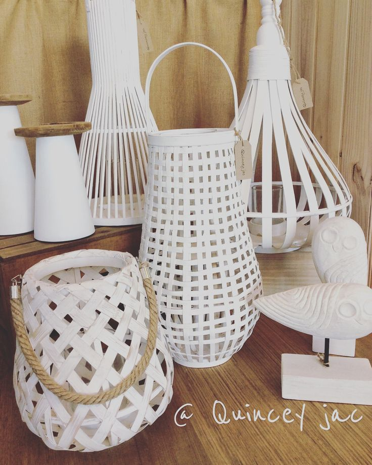 #white #lanterns #wood #candles #outside #homewares #quinceyjac