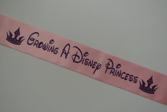Luxury Sash Printed BOTH SIDES! The must have design for any Disney mad Mum To Be!  I print all sashes to order in my smoke free home studio  The