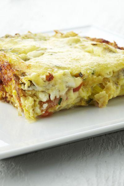 Recepten - Ovenschotel met aardappelen, prei en pladijs