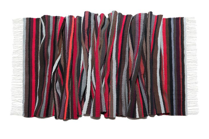 """woven carpet in subdued colors """" Cherries in chocolate"""""""
