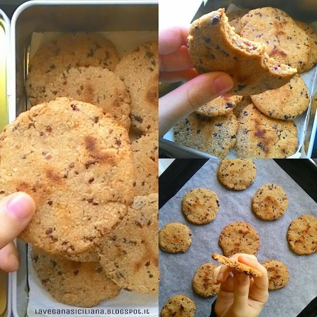 La Vegana Siciliana: Biscotti di mandorla e prugne (senza: glutine, zuc...