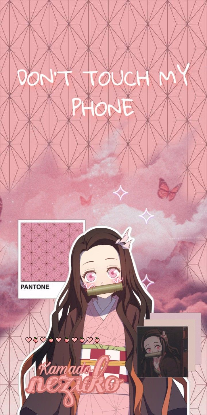 Nezuko Don T Touch My Phone Wallpaper Pink Wallpaper Anime Anime Wallpaper Phone Anime Wallpaper Iphone
