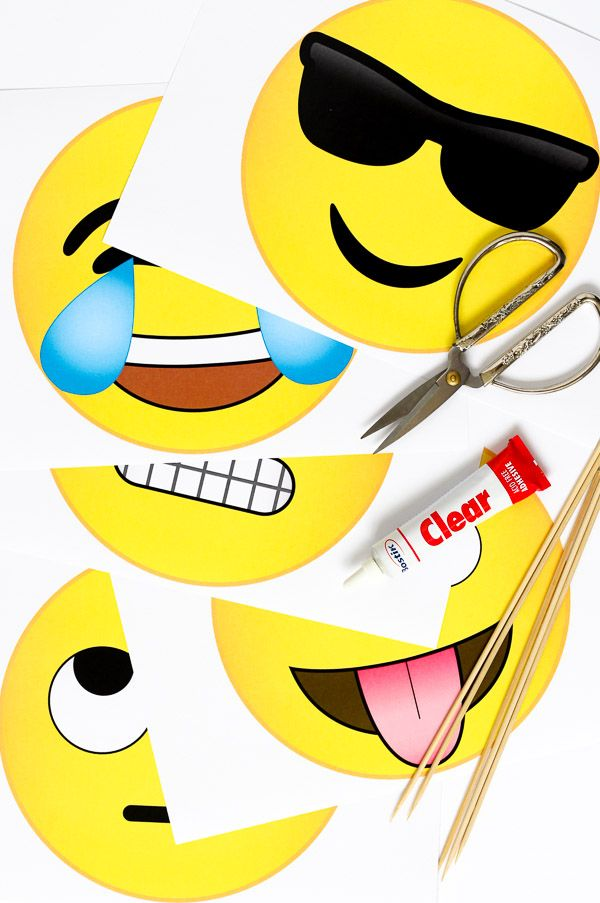 Emoji Photobooth Props // Free Download - Pure Sweet Joy