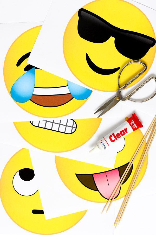 emoji photobooth props free download