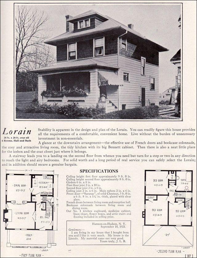Craftsman Foursquare House Plans