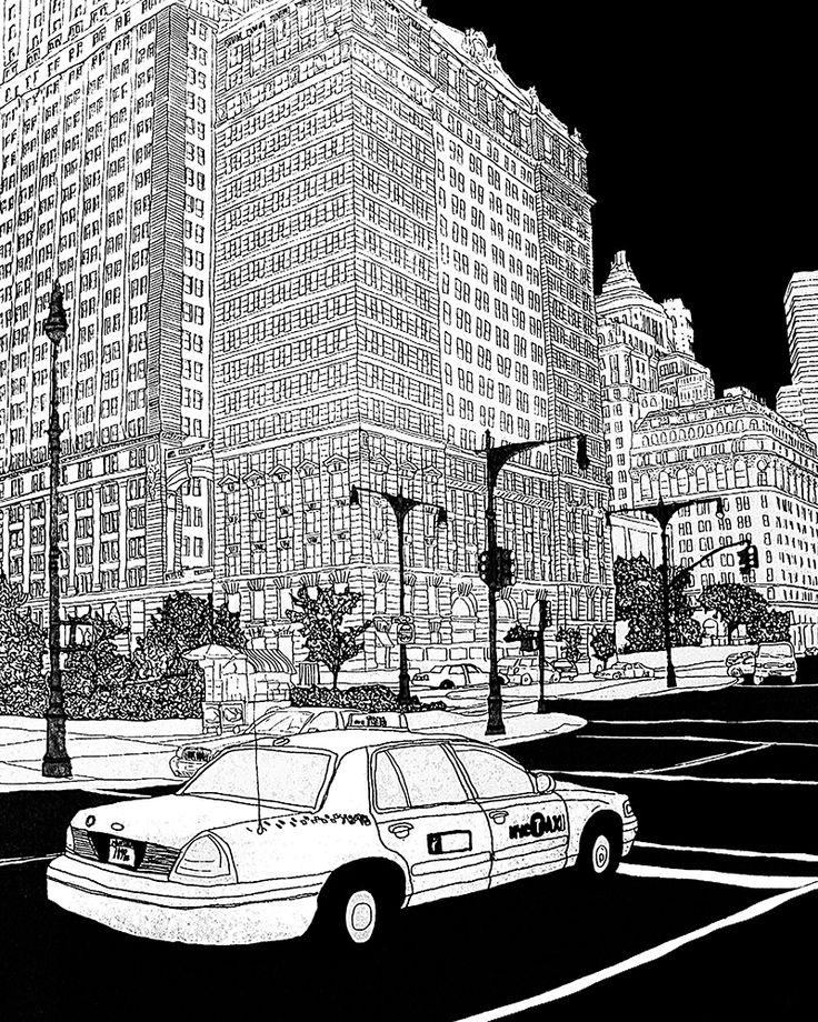 New York Chalsea_Materials: canvas, digital print, computer graphic Category: Digital Original size: (h) 90.0 * (w) 72.0 cm Printing at a canvas frame