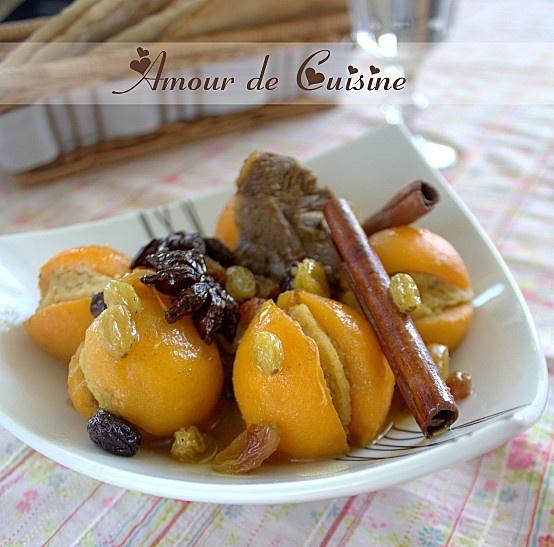tajine de nèfles farcies aux amandes