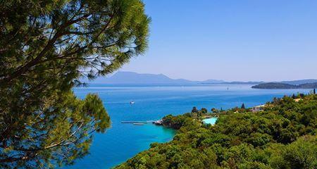 Beautiful view from Aliki Hotel in Nikiana